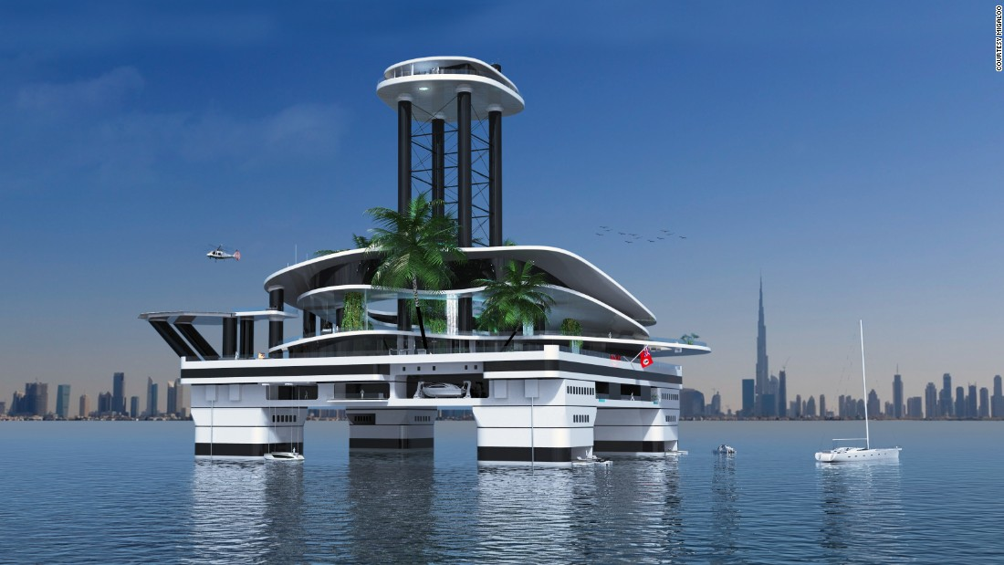 "When it comes to superyachts -- and their multimillionaire owners -- is there ever such a thing as ""over-the-top?"" Gumpold thinks not.<br />""Clients always demand the extraordinary design, and we as designers try to fulfill their dreams,"" he said.<br />""Large waterfalls, living plants -- these are an upcoming trend on megayachts. We just took these features to another level."""