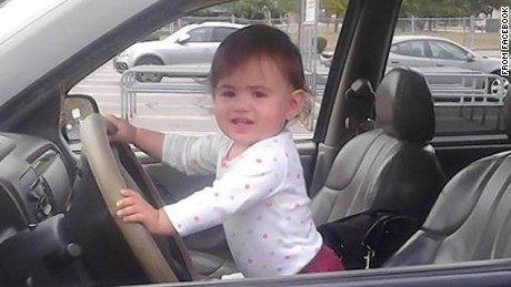 """Baby Doe"" has been identified as Bella Bond, seen here in a Facebook photo."