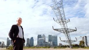 A giant inverted electric pylon? Take a drone's eye view