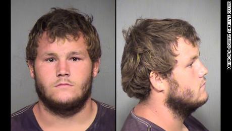 Leslie Allen Merritt Jr., 21, was arrested while shopping in Glendale, a Phoenix suburb, according to Daniel Scarpinato, a spokesman for Arizona Gov. Doug Ducey.