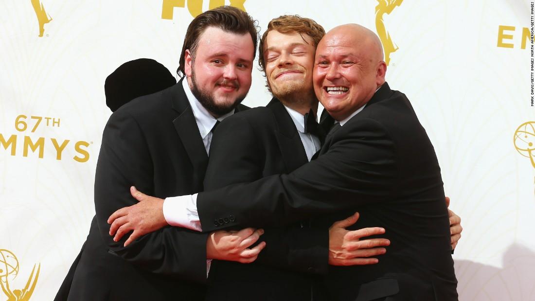 From left, John Bradley, Alfie Allen and Conleth Hill