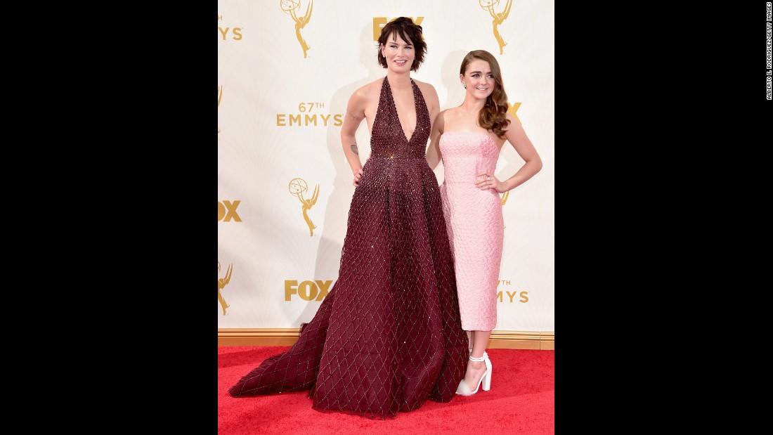Lena Headey, left, and Maisie Williams