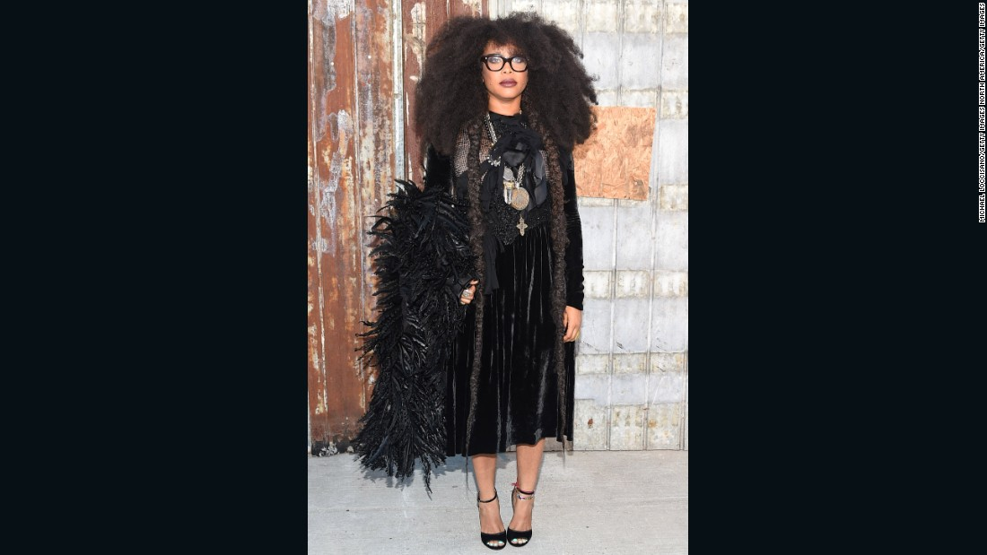 Singer-songwriter Erykah Badu also made the much talked about party's guest list.