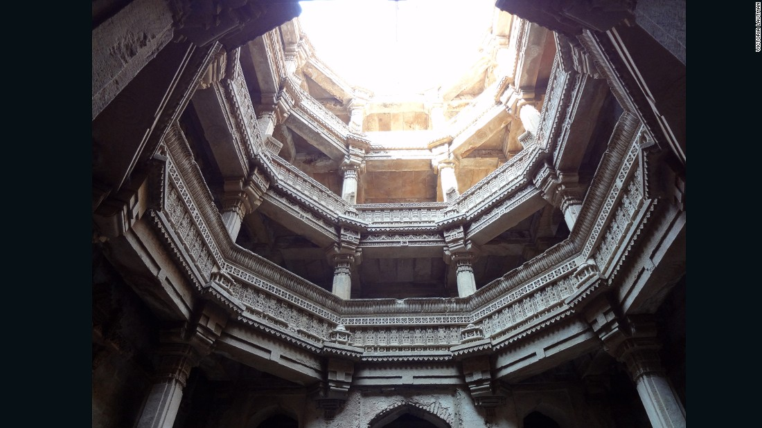 """""""This is the first stepwell I saw and I couldn't forget it. The shock of looking down into architecture instead of up at it subverted everything I'd expected from a building. The dramatic contrasts of light & shade, the cool air, the telescoping views and hushed sounds...every sense was on alert. Who wouldn't remember that for decades?"""""""