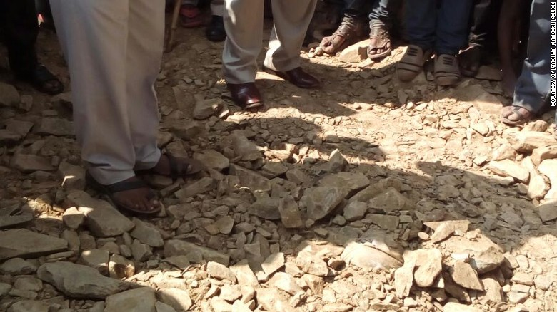 Indian man buried alive by road workers after falling into hole