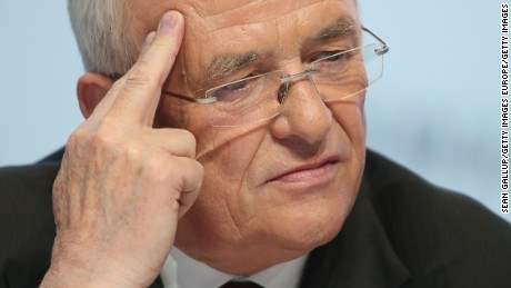 WOLFSBURG, GERMANY - MARCH 13, 2014:  In this file photo Volkswagen CEO Martin Winterkorn attends the company's annual press conference on March 13, 2014 in Wolfsburg, Germany. Winterkorn announced on September 22, 2015 that he will not step down following the diesel emissions scandal that Volkswagen has admitted could affect up to 11 million VW cars.  (Photo by Sean Gallup/Getty Images)