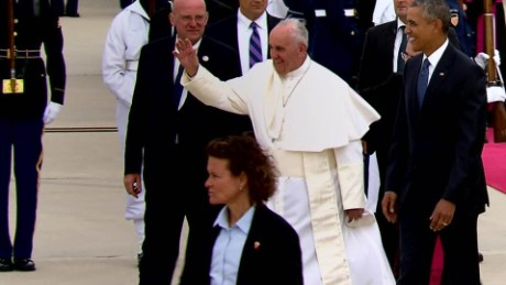 Pope Francis White House visit first day united states Obama_00000000