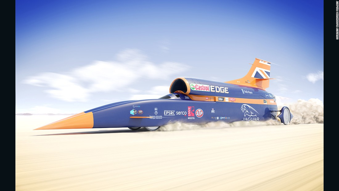 The team behind the Bloodhound SCC is hoping to break the world land speed record in South Africa in 2016.
