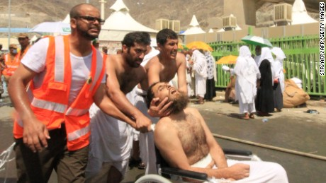 Why was there a stampede during Hajj?