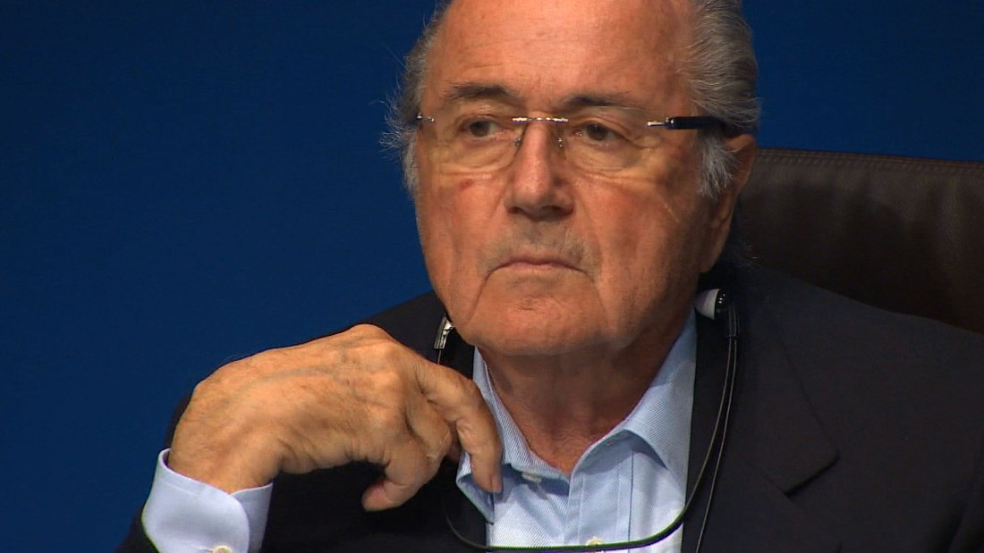 "FIFA president Sepp Blatter had been in hospital in November, recovering from ""a body breakdown."""