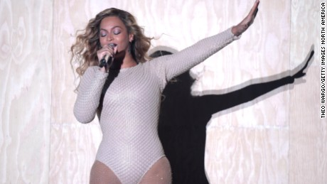 Beyonce performs during the Global Citizen Festival in New York's Central Park on September 26