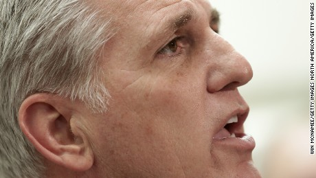 House Majority Leader Kevin McCarthy (R-CA) speaks during a press conference following the weekly House Republican conference meeting at the U.S. Capitol February 25, 2015 in Washington, DC.