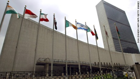 The United Nations headquarters in New York is shown in this photo taken 12 August 2003.        (Photo credit: DON EMMERT/AFP/Getty Images)