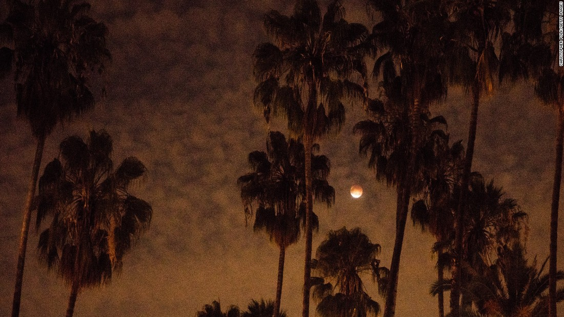 The eclipse as seen from Los Angeles.