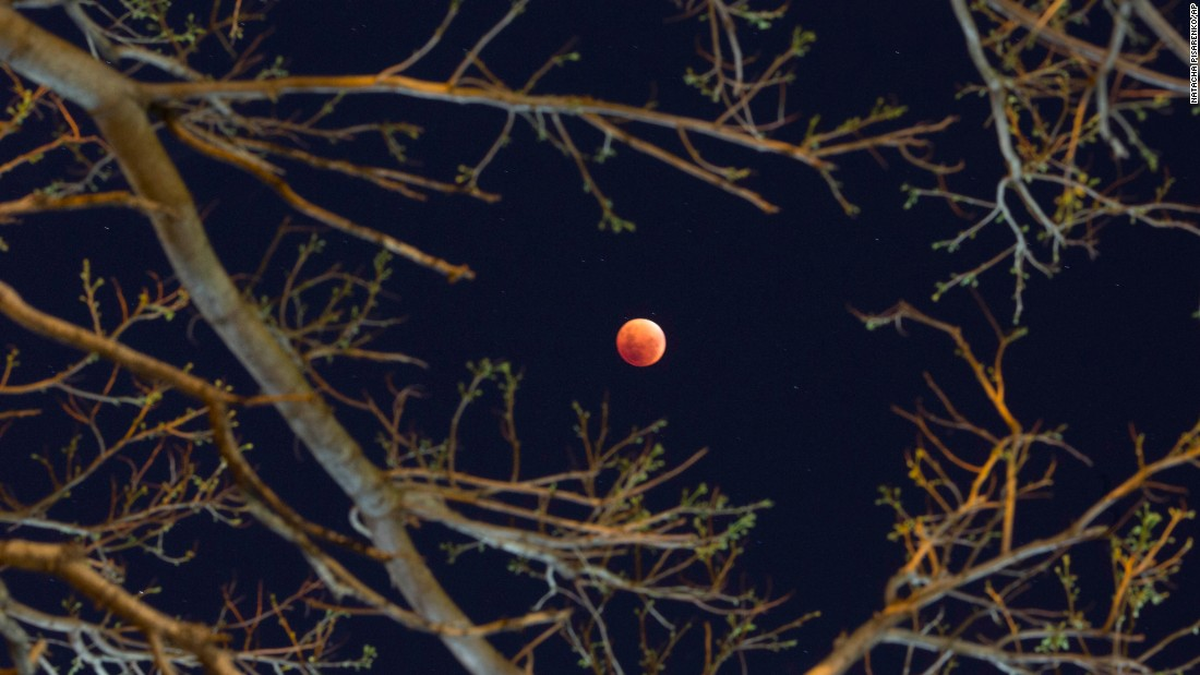The supermoon is shown in Buenos Aires.