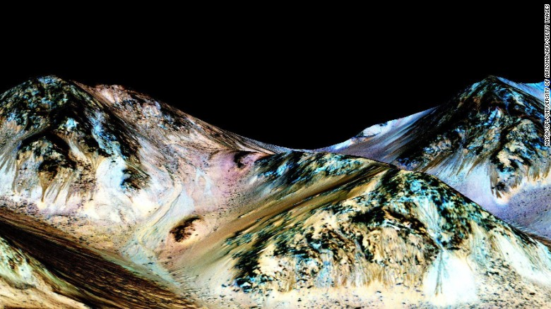 NASA confirms discovery of flowing water on Red Planet 'MARS'