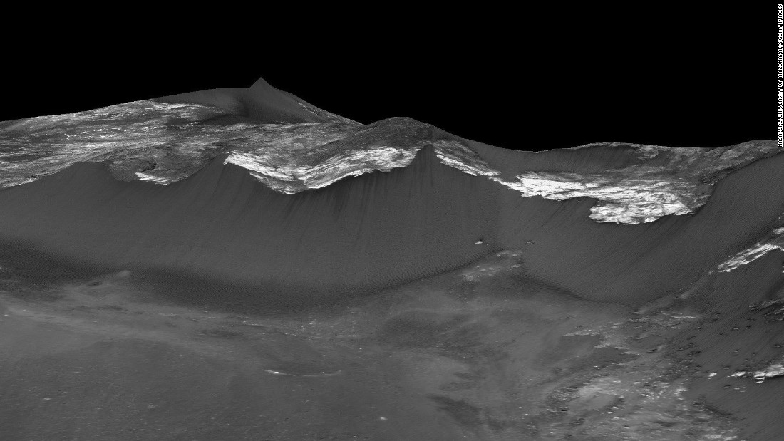 Recurring slope lineae flow down the west-facing slopes of Coprates Chasma, which is in the equatorial region of Mars.