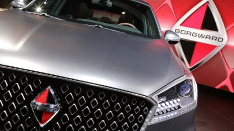 FRANKFURT AM MAIN, GERMANY - SEPTEMBER 16:  The new Borgward BX7 at the Borgward stand at the 2015 IAA Frankfurt Auto Show during a press day on September 16, 2015 in Frankfurt, Germany. The IAA, Germany's biggest auto show, which takes place every two years, will be open to the public from September 17 through 27.  (Photo by Hannelore Foerster/Getty Images)