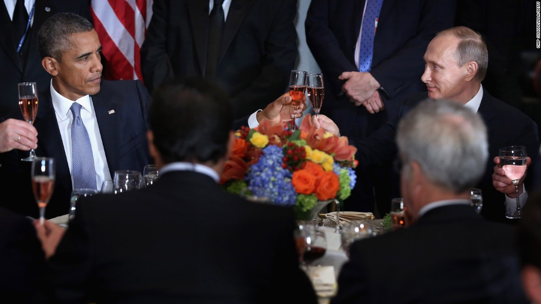 Tense moments between Obama and Putin...