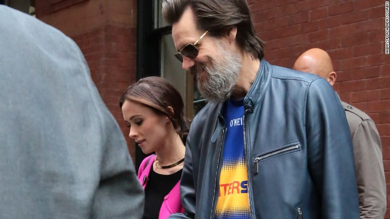 Jim Carrey and Cathriona White, seen here in May, reportedly met in 2012 and dated on and off.