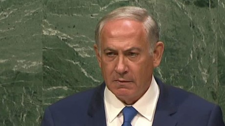 benjamin netanyahu silent stare united nations speech sot_00004613