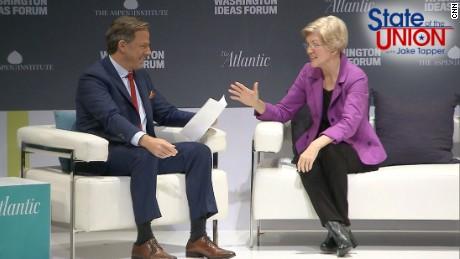 CNN's Jake Tapper interviews Sen. Elizabeth Warren (D-MA)