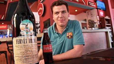 Juan Chico is the manager of a bar in the heart of the upscale Palermo neighborhood in Buenos Aires and says that he sells an average of 70 glasses of Fernet a day.