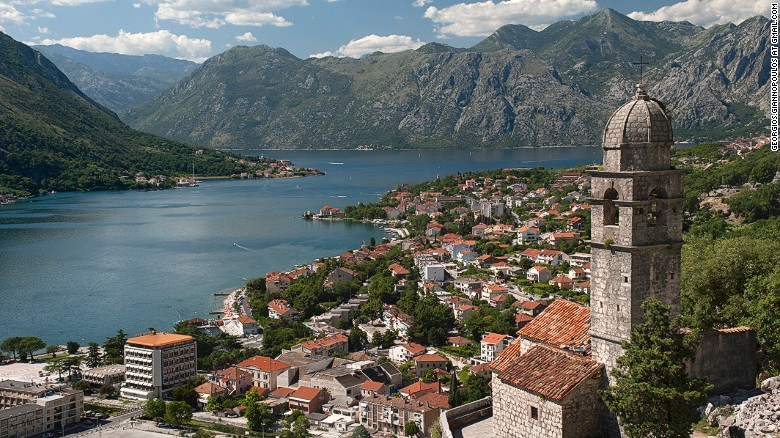"""The coastal town of Kotor in Montenegro was recently named by Royal Caribbean cruise ship captains as having one of the <a  data-cke-saved-href=""""http://edition.cnn.com/2015/10/07/travel/cruise-ship-captains-best-views"""">world's href=""""http://edition.cnn.com/2015/10/07/travel/cruise-ship-captains-best-views"""">world's most beautiful harbors</a>."""