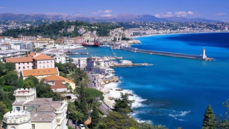 "Nice (France)  A popular destination for the well-trodden holidaymaker, the Captains commented that the view of Nice as they sail into the neighbouring port of VilleFranche deserved a place in the top 20 thanks to its mountainous backdrop.  Captain Tomas Busto, from Adventure of the Seas, said he loved it because: ""when the ships arrive in the Mediterranean in April, the mountains are still snow-capped but the beaches are welcoming sunbathers."""