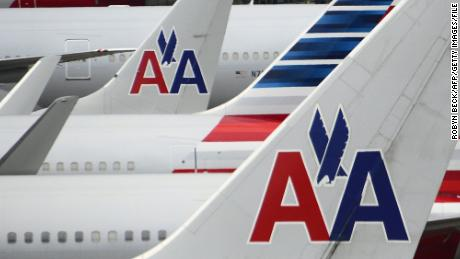 American Airlines passenger planes are seen on the tarmac at Miami International Airport on June 8, 2015.