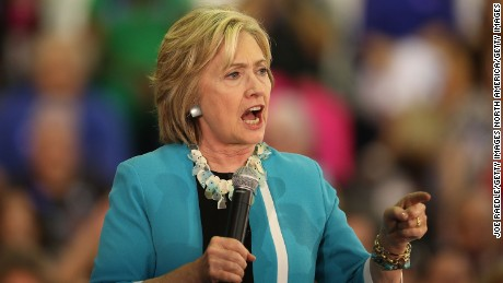 Democratic presidential candidate Hillary Clinton speaks about gun control during her campaign stop at the Broward College Ð Hugh Adams Central Campus on October 2, 2015 in Davie, Florida.