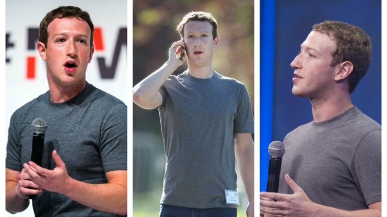 """The Facebook founder told the audience of his first public Q&A in 2014: """"I really want to clear my life to make it so that I have to make as few decisions as possible about anything except how to best serve the community."""""""