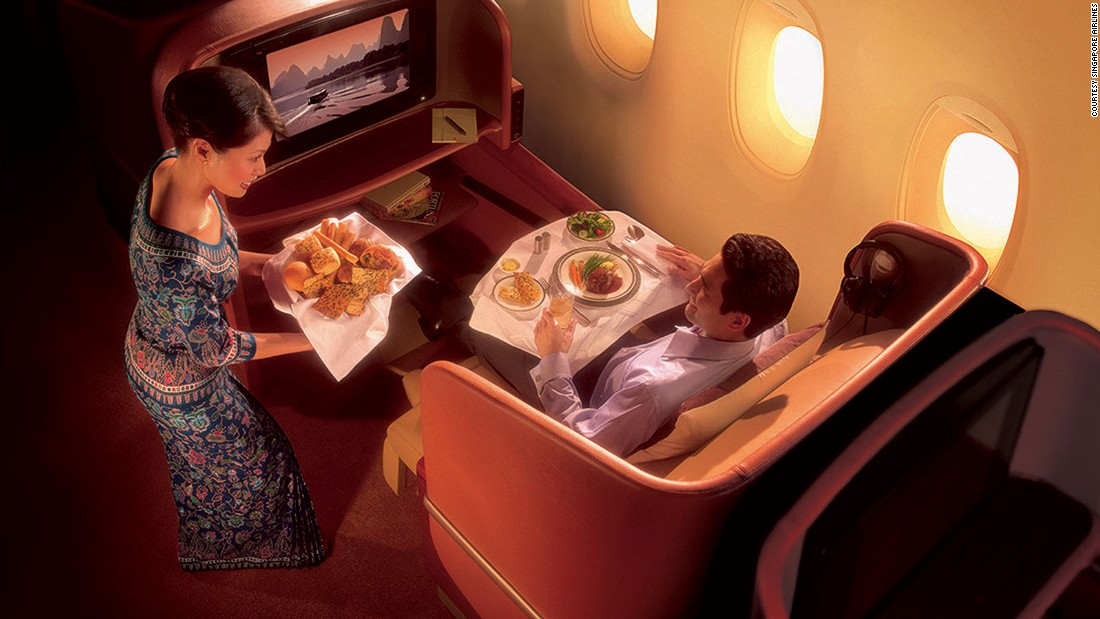Singapore Airlines, ranked third, is Asia's best airline. It also won the title for the best business class airline seat.