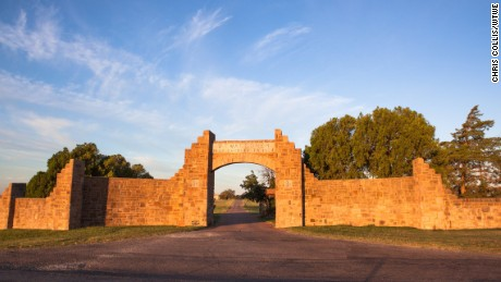The entrance to Waggoner Ranch