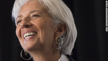 IMF Managing Director Christine Lagarde speaks about the world financial situation and the upcoming 2015 IMF / World Bank Annual Meetings during a Council of the Americas event in Washington, DC, September 30, 2015. AFP PHOTO /  SAUL LOEB        (Photo credit should read SAUL LOEB/AFP/Getty Images)