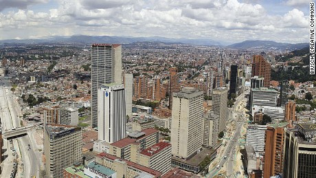 At roughly 8,600 feet above sea level, and with an estimated 8 million inhabitants, Bogota is one of the largest high-altitude cities in the world.