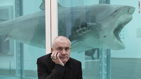 Damien Hirst's art -- tanked up in the Tate.