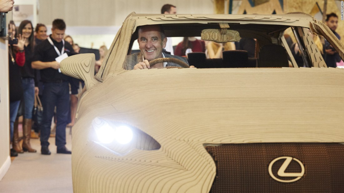 TV presenter Kevin McCloud test drove the car at a consumer exhibition in Birmingham, UK.