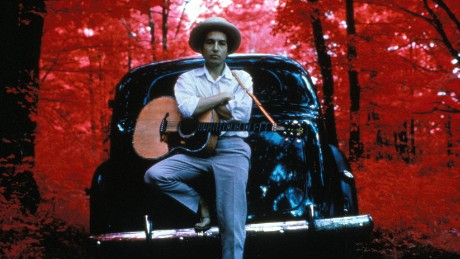 UNITED STATES - JANUARY 01:  WOODSTOCK  Photo of Bob DYLAN, posed outside Byrdcliff home  (Photo by Elliott Landy/Redferns)