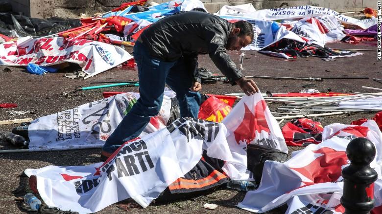 Shock, 'somber' mood at Ankara blast site
