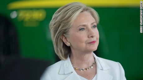 Democratic presidential candidate and former U.S. Secretary of State Hillary Clinton speaks to guests gathered for a campaign event on the campus of Des Moines Area Community College on August 26, 2015 in Ankeny, Iowa.  A recent poll has Clinton leading all other Democratic contenders in Iowa by about 30 percentage points.