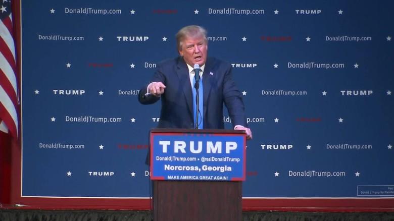 Donald Trump takes swings at Democratic contenders