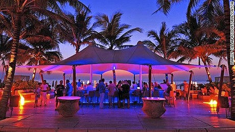 Surin's Catch beach club keeps the party going after sunset.