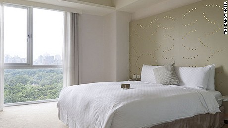 Rooms with views are worth the slight additional cost, even on hazy days.