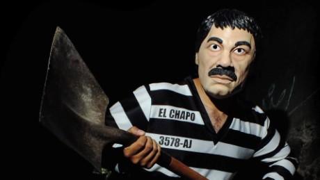 cnnee pkg romo drug lord mask chapo halloween _00001720
