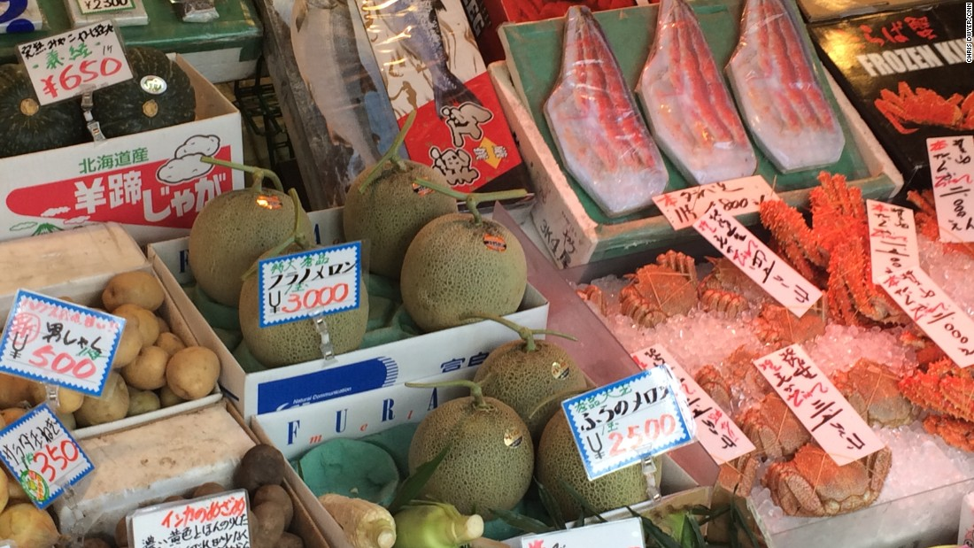 In Tokyo, fruit and vegetables are treated with huge respect and can command eye-watering prices for single specimens. Restaurateurs and shop owners alike have exacting standards and aren't shy about returning anything that doesn't meet them.