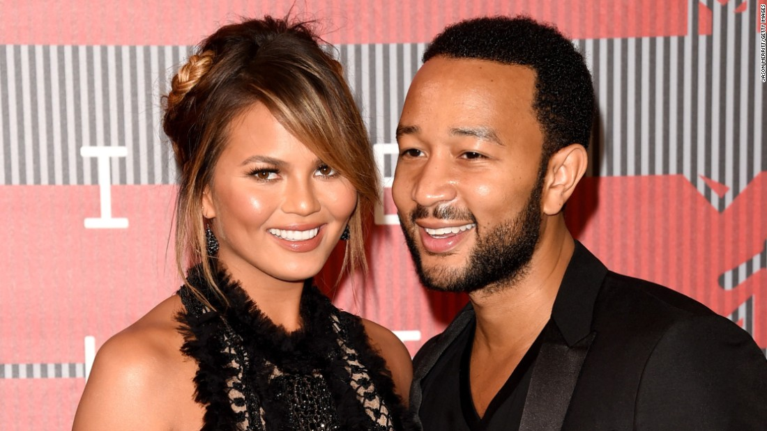 "Supermodel Chrissy Teigen announced October 12 on Instagram that she and her husband, singer John Legend, are expecting their first child. ""I look forward to all the belly touching!"" she wrote."