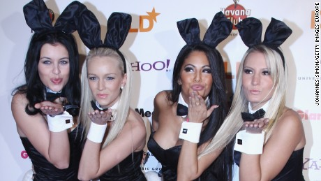 MUNICH, GERMANY - JANUARY 25:  Playboy bunnies arrive for the DLD Starnight at Haus der Kunst on January 25, 2010 in Munich, Germany.  (Photo by Johannes Simon/Getty Images for Hubert Burda Media)