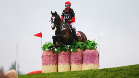 BLAIR ATHOLL, SCOTLAND - SEPTEMBER 12:  Patriza Attinger of Switzerland competes on Raumalpha during the Longines FEI European Eventing Championship 2015 at Blair Castle on September 12, 2015 in Blair Atholl, Scotland. (Photo by Ian MacNicol/Getty Images)