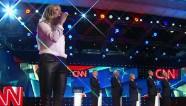 Sheryl Crow sings national anthem at Democratic debate